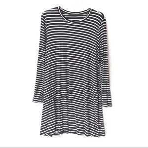 Cherish Striped Long Sleeve Tunic Black White L